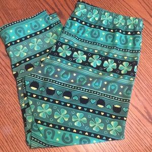 St Patricks Day Leggings Pot of Gold XS S M L XL  No Boundaries Capri Legging